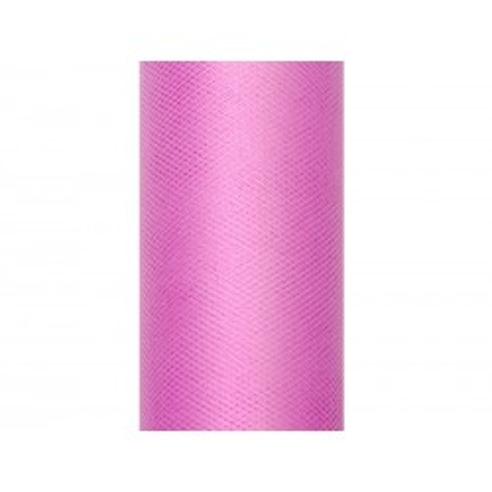 Tiul gładki, różowy, 0,3 x 9m