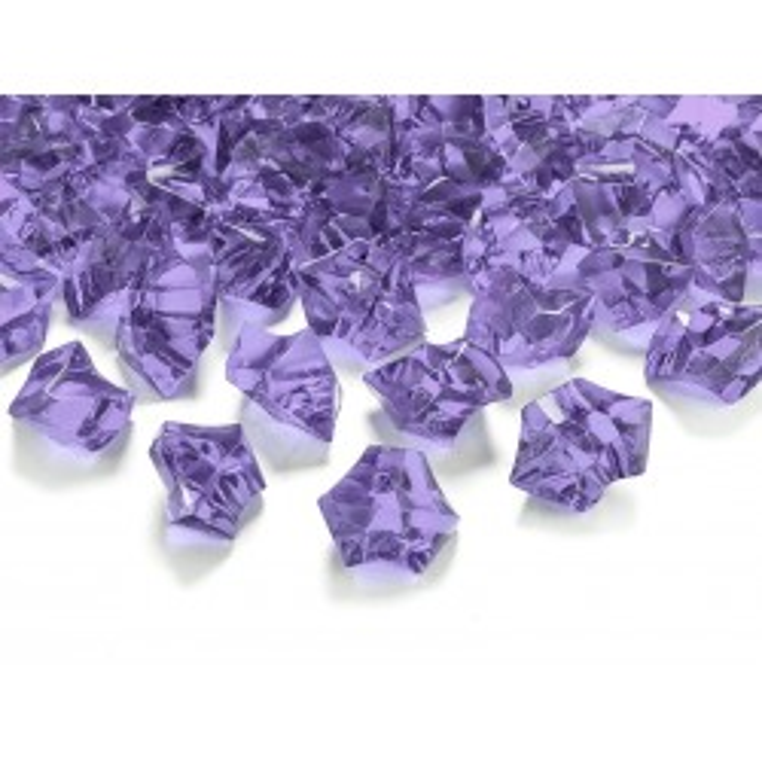 Kryształowy lód, liliowy, 25 x 21mm