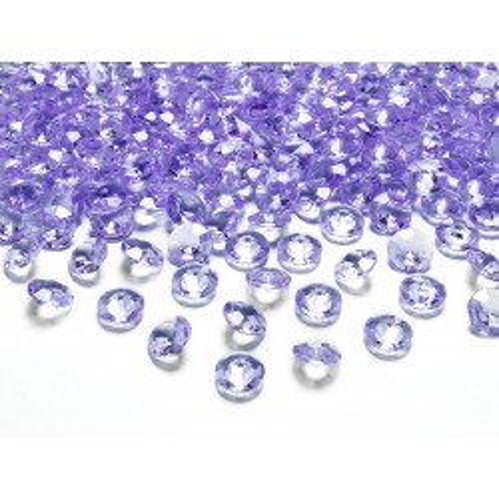 Diamentowe konfetti, liliowy, 12mm