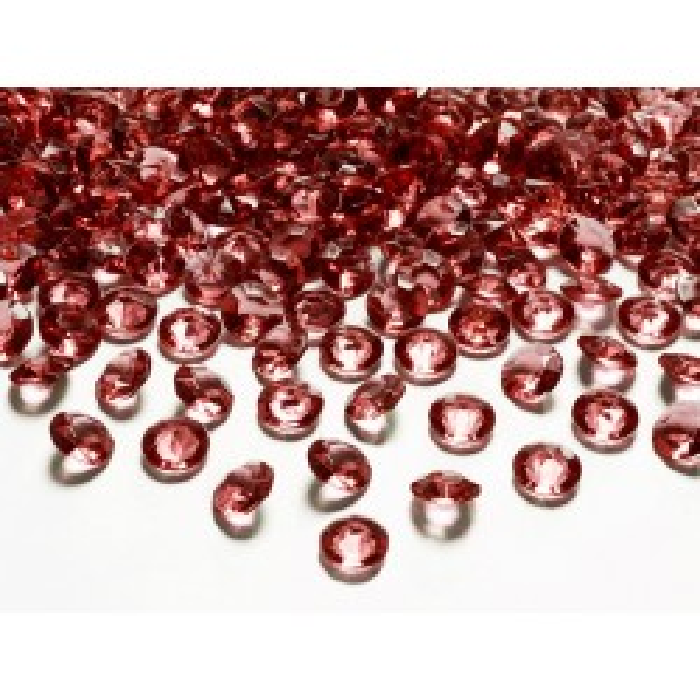 Diamentowe konfetti, bordo, 12mm