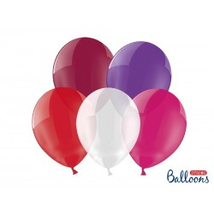 Balony 25 cm, Crystal Mix