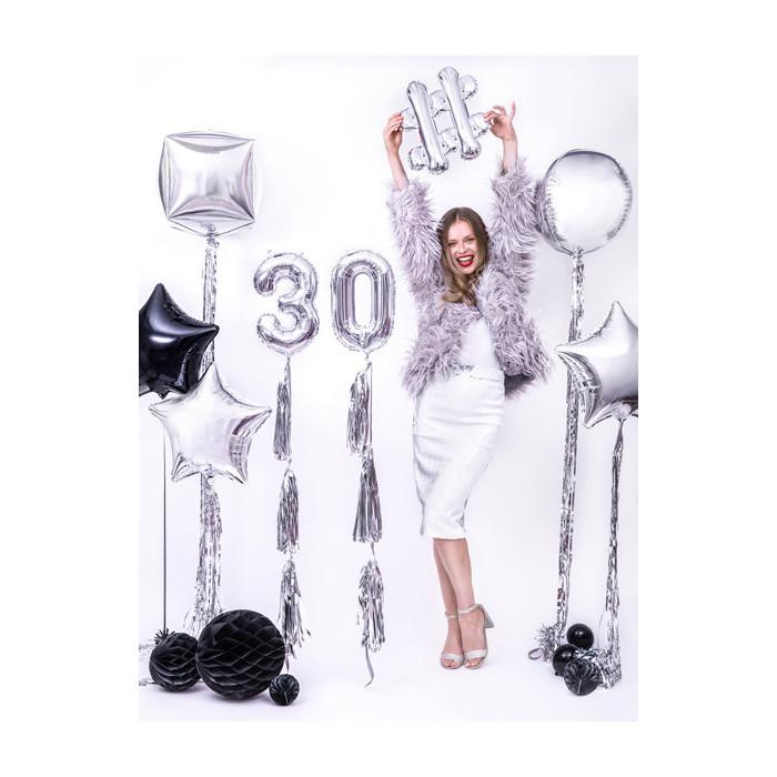 Balony 25 cm, Crystal Poppy Red