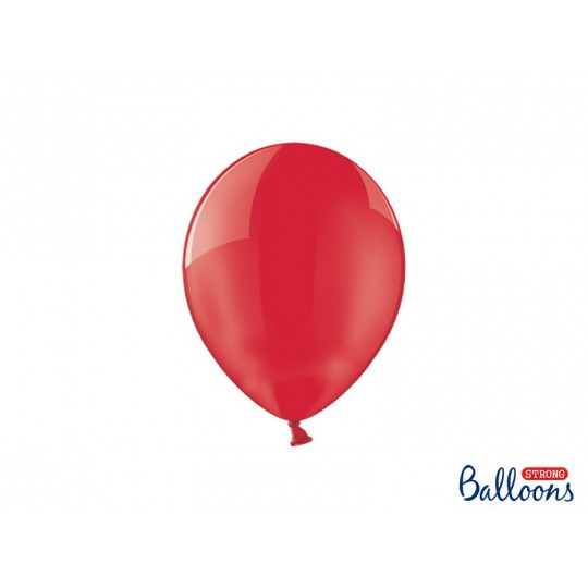 Balony 25 cm, Crystal Poppy Red