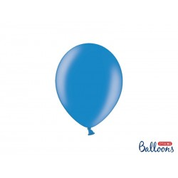 Balony 25 cm, Metallic Cornflower Blue