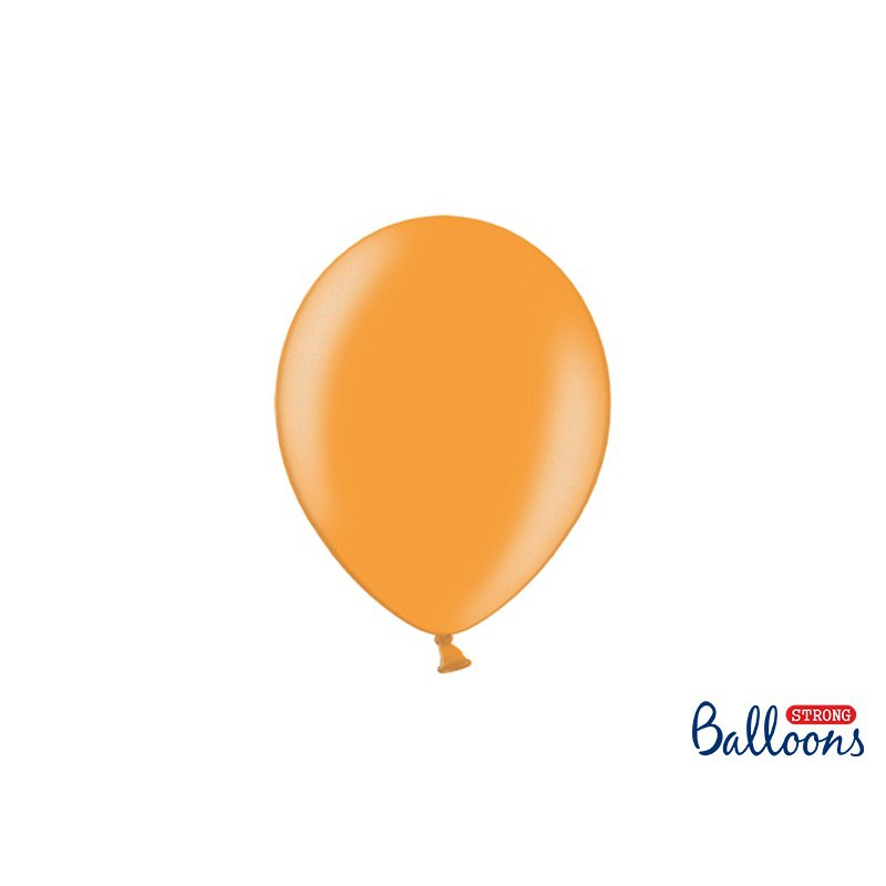 Balony 25 cm, Metallic Mandarin Orange