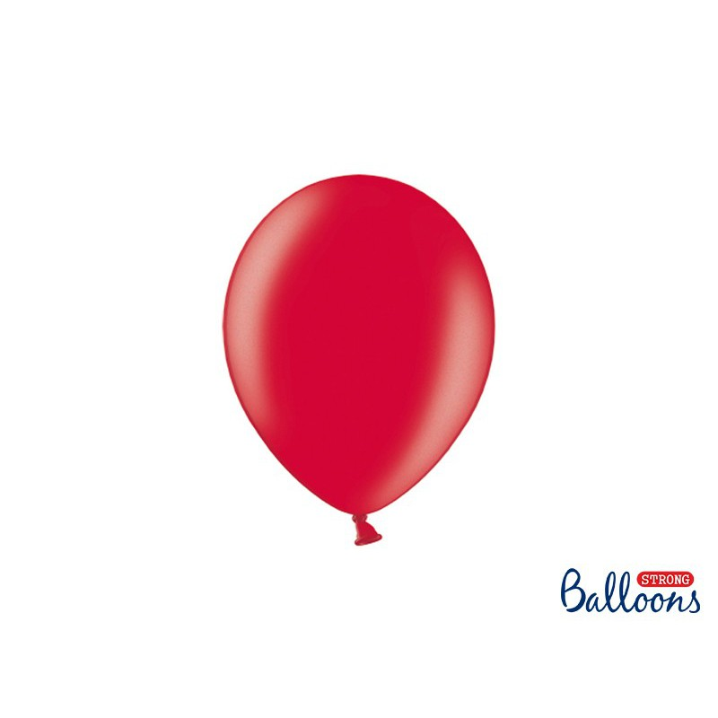 Balony 25 cm, Metallic Poppy Red