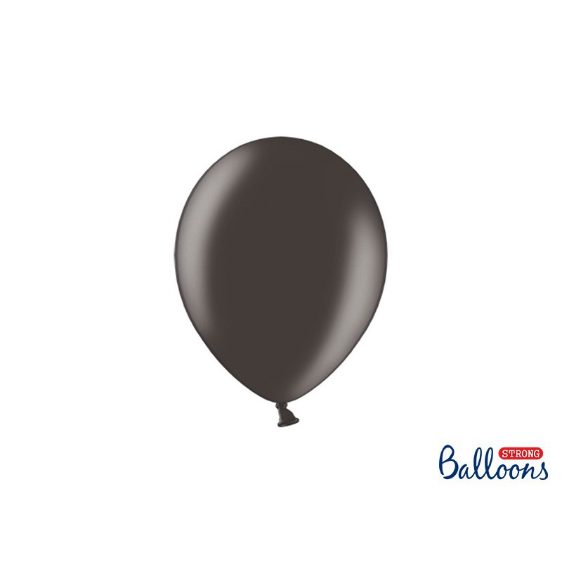 Balony 25 cm, Metallic Black