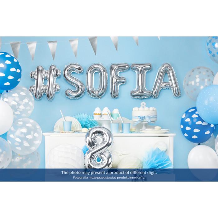 Balony 25 cm, Metallic Black