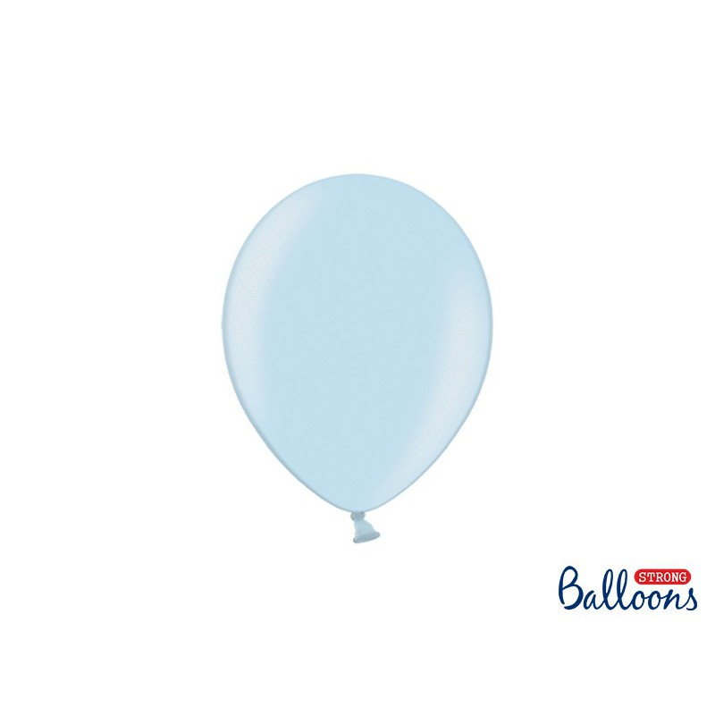 Balony 25 cm, Metallic Baby Blue