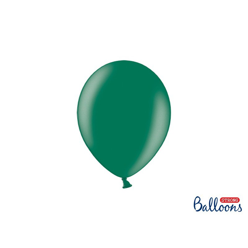 Balony 25 cm, Metallic Bottle Green