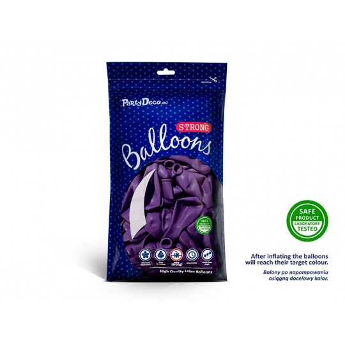 Balony 25 cm, Metallic Purple