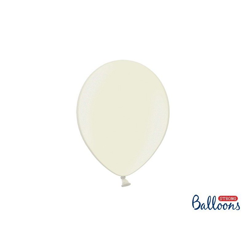 Balony 25 cm, Metallic Light Cream