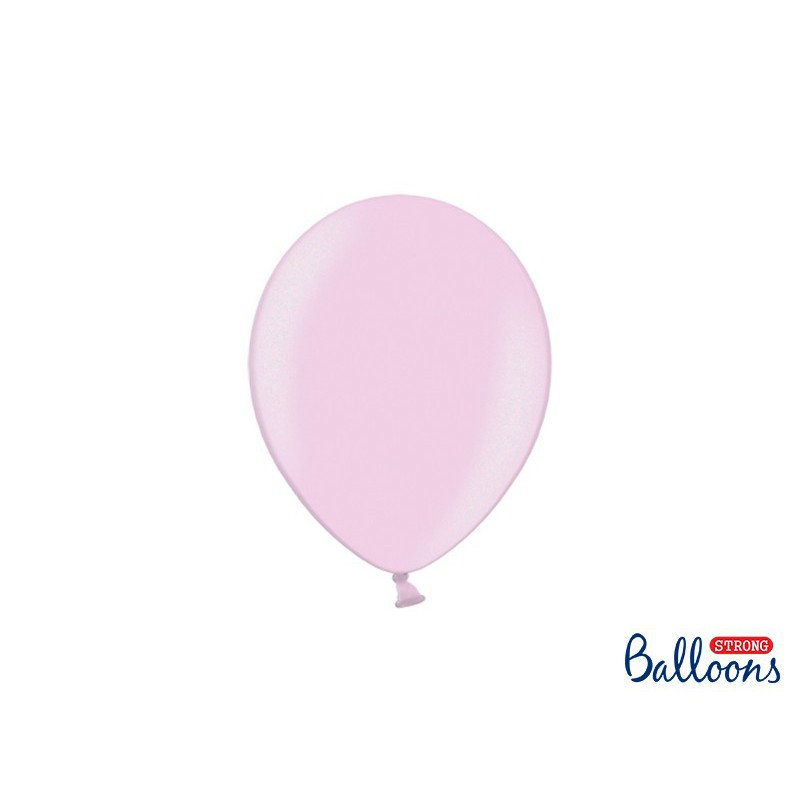 Balony 25 cm, Metallic Candy Pink