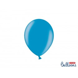 Balony 25 cm, Metallic Caribbean Blue