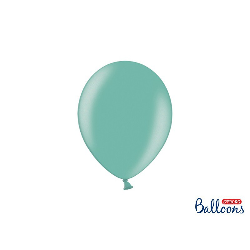 Balony 25 cm, Metallic Aquamarine
