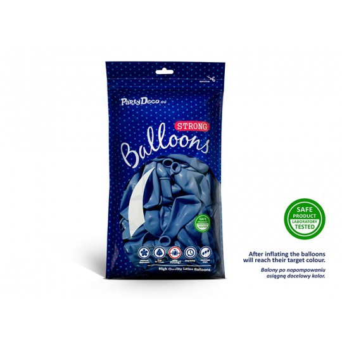 Balony 25 cm, Metallic Blue
