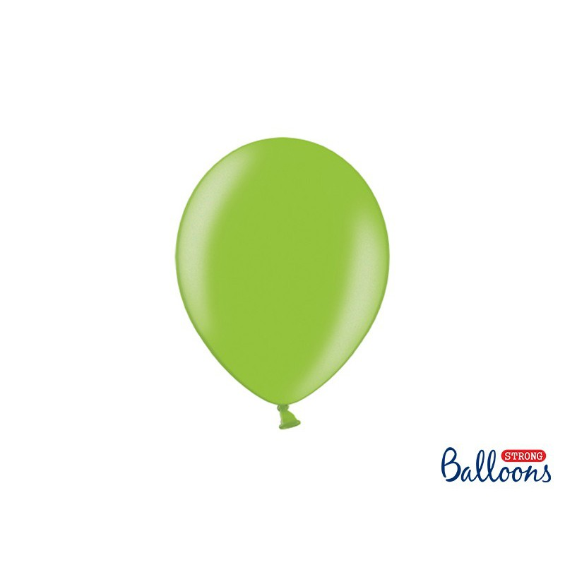 Balony 25 cm, Metallic Bright Green