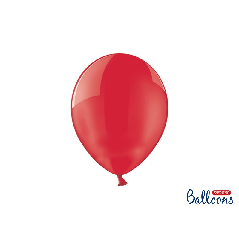 Balony 30 cm, Crystal Poppy Red