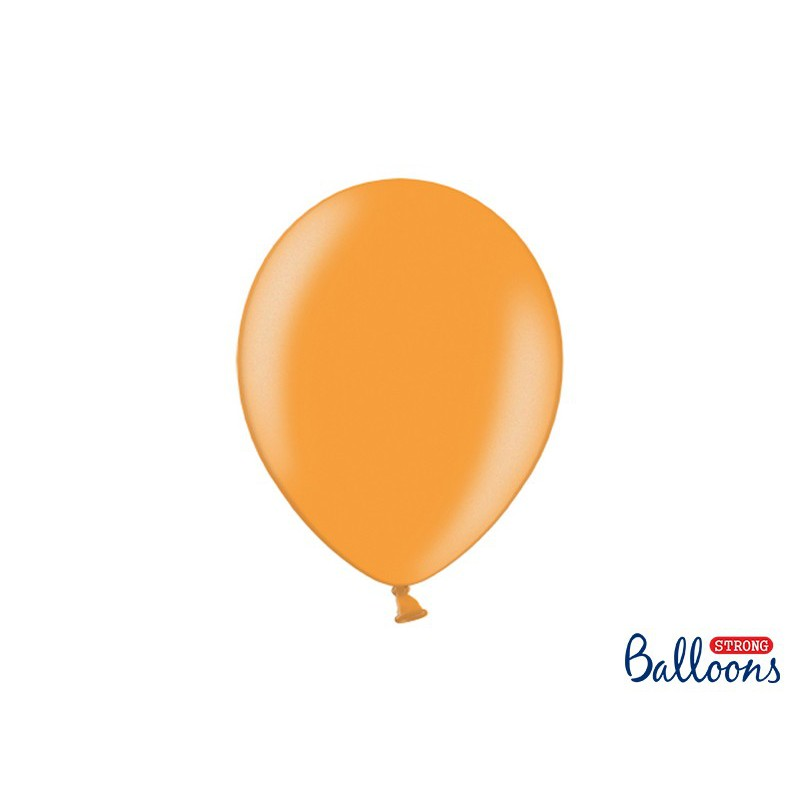 Balony 30 cm, Metallic Mandarin Orange