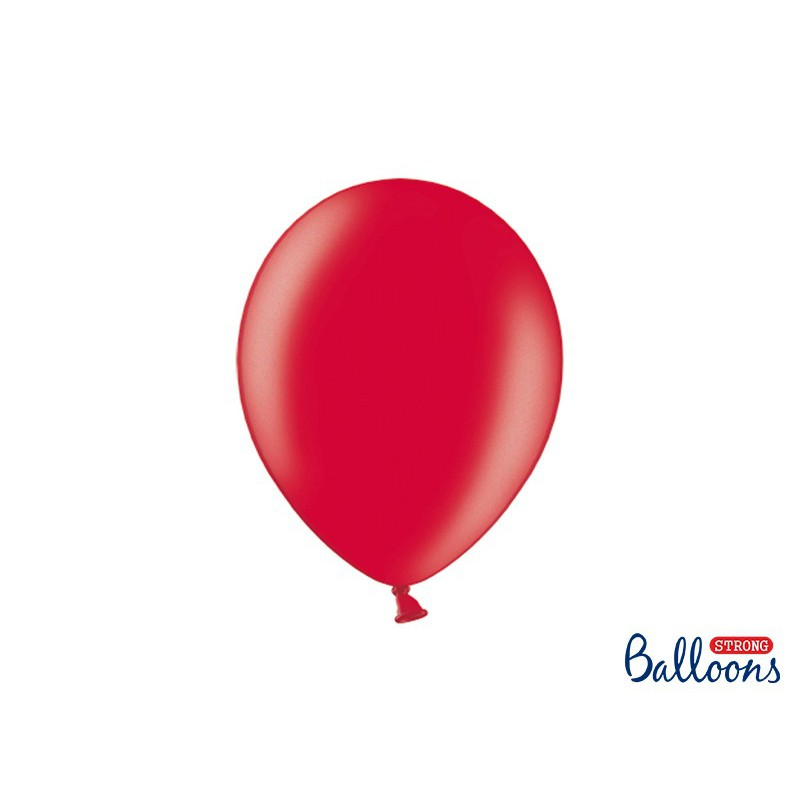 Balony 30 cm, Metallic Poppy Red