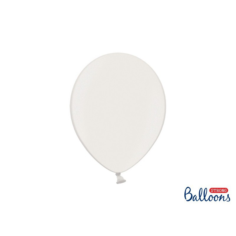 Balony 30 cm, Metallic Pure White