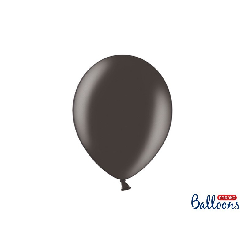 Balony 30 cm, Metallic Black