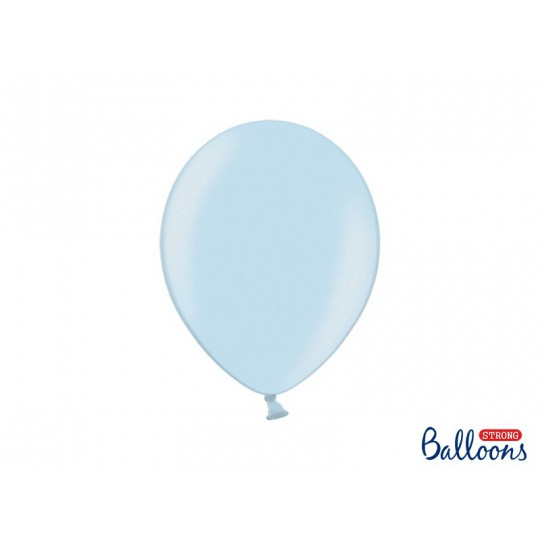 Balony 30 cm, Metallic Baby Blue