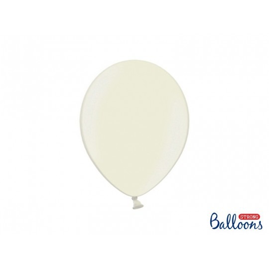 Balony 30 cm, Metallic Light Cream