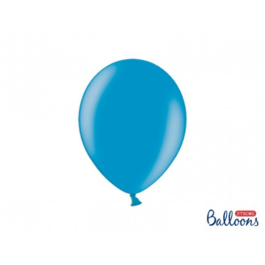 Balony 30 cm, Metallic Caribbean Blue