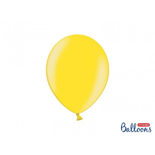 Balony 30 cm, Metallic Lemon Zest