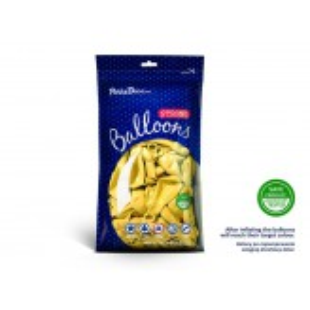 Balony 30 cm, Metallic Lemon Zest