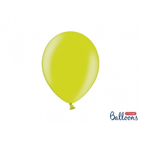 Balony 30 cm, Metallic Lime Green