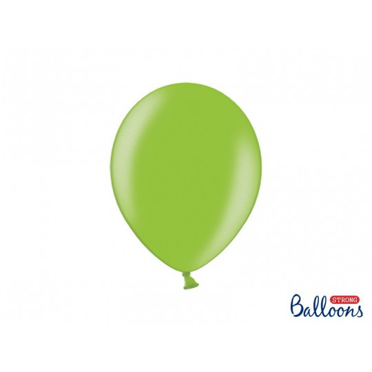 Balony 30 cm, Metallic Bright Green