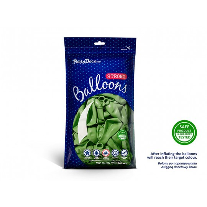 Balony 30 cm, Metallic Bright Green