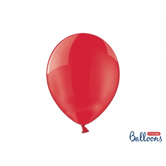 Balony 35 cm, Crystal Poppy Red