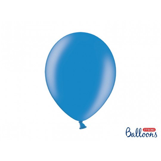 Balony 35 cm, Metallic Cornflower Blue
