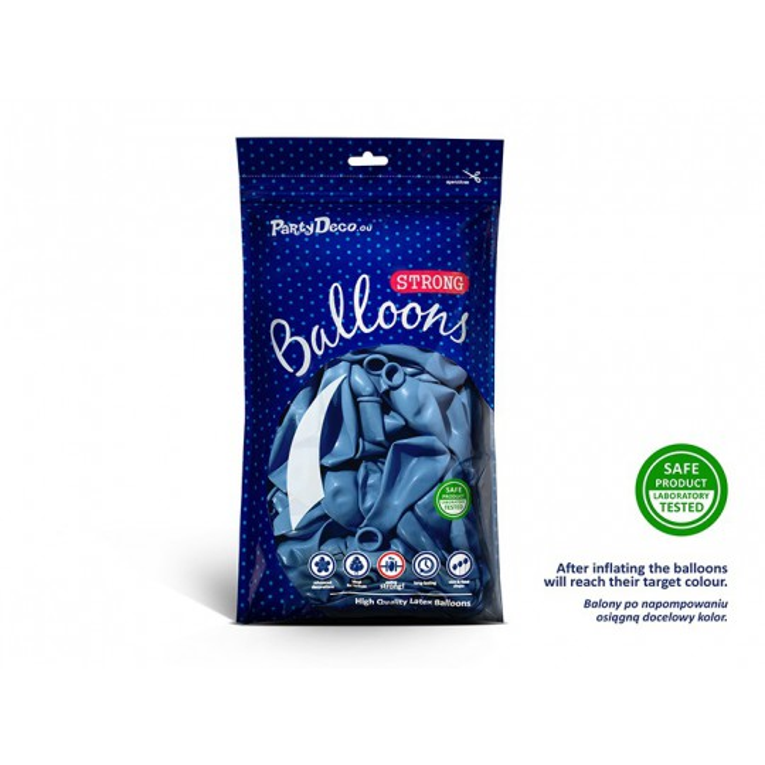Balony 35 cm, Metallic Cornflower Blue