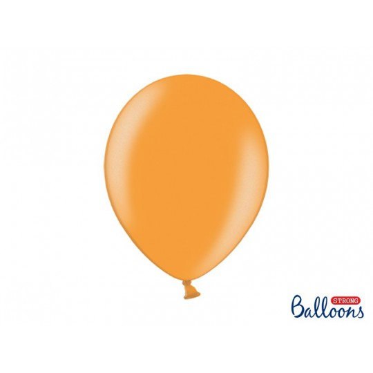 Balony 35 cm, Metallic Mandarin Orange