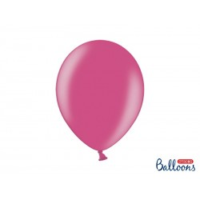 Balony 35 cm, Metallic Hot Pink