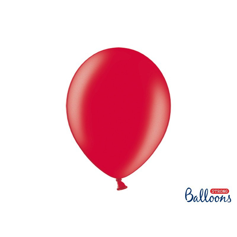 Balony 35 cm, Metallic Poppy Red