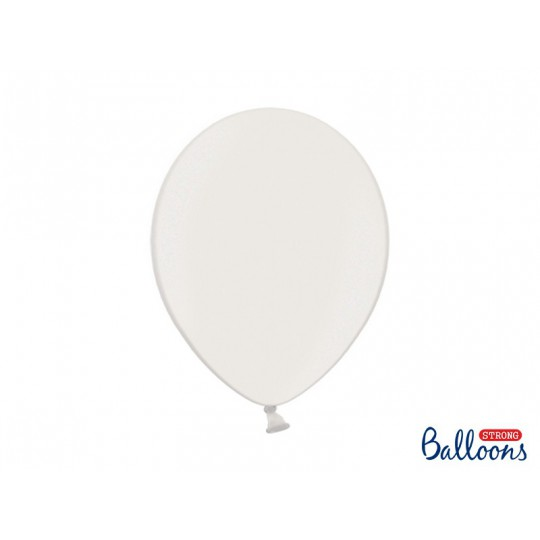 Balony 35 cm, Metallic Pure White