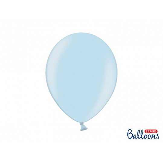 Balony 35 cm, Metallic Baby Blue