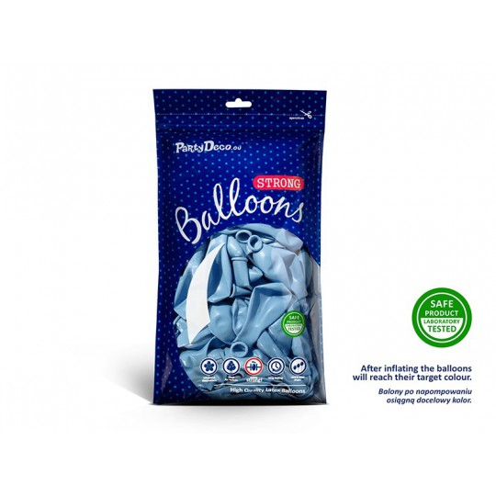 Balony 35 cm, Metallic Baby Blue