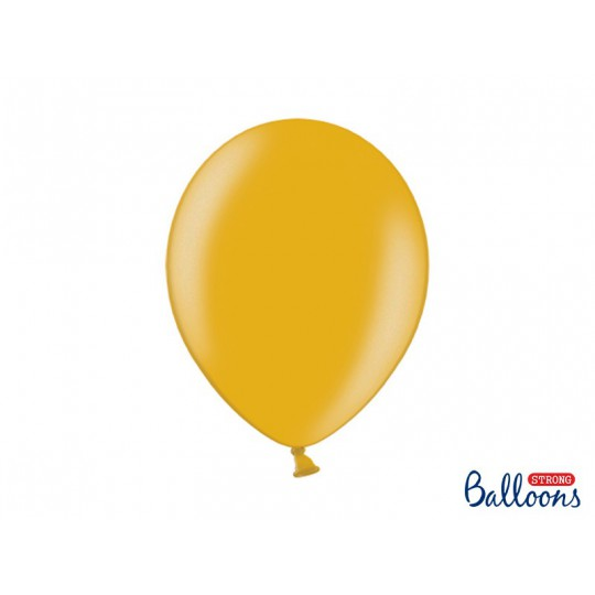 Balony 35 cm, Metallic Gold