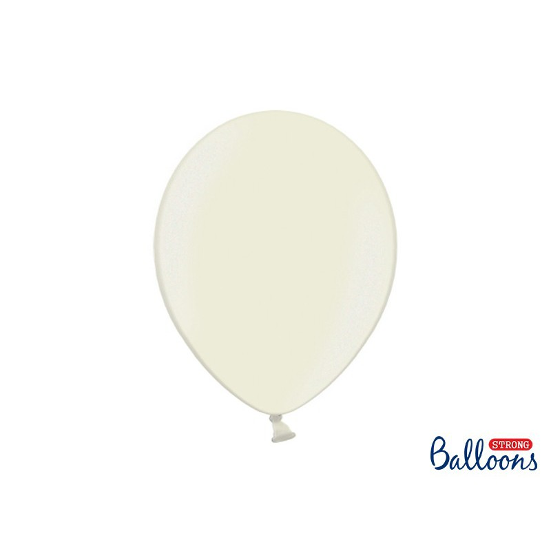 Balony 35 cm, Metallic Light Cream