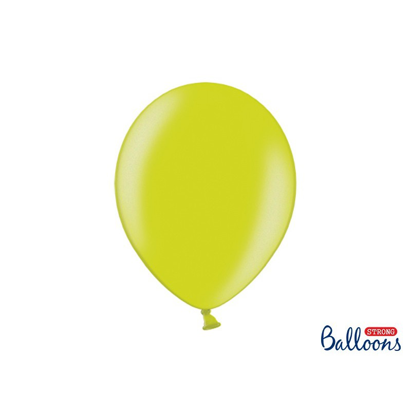 Balony 35 cm, Metallic Lime Green