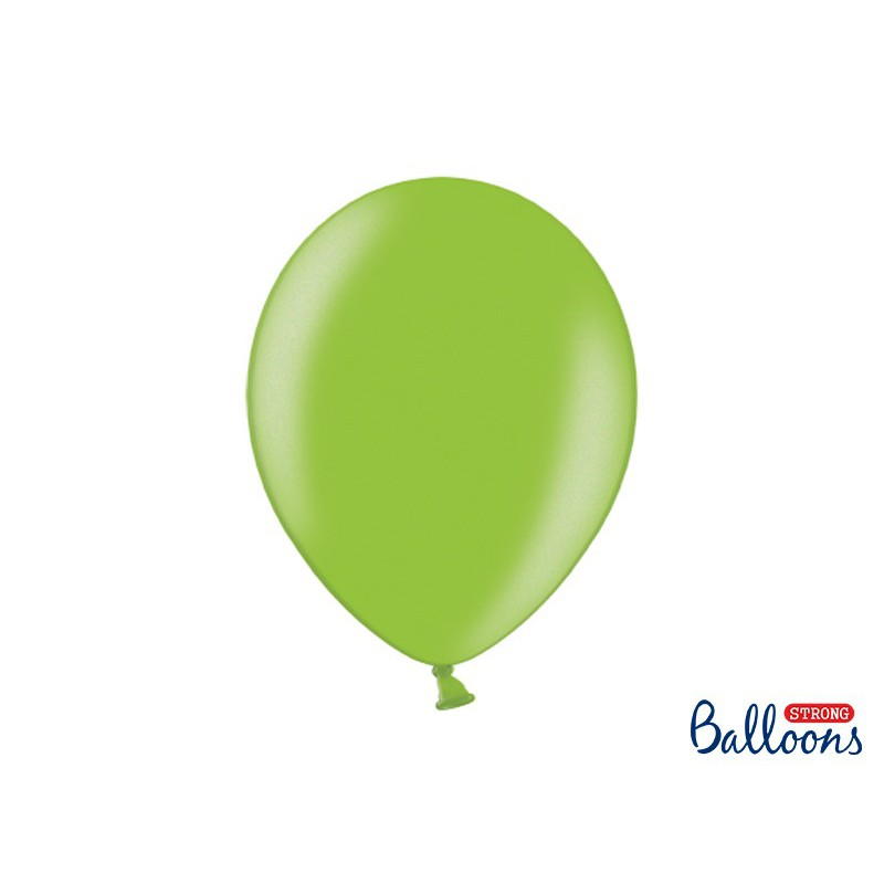 Balony 35 cm, Metallic Bright Green