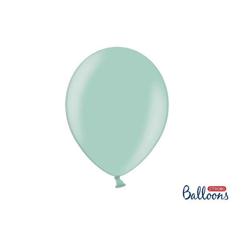 Balony 35 cm, Metallic Mint Green