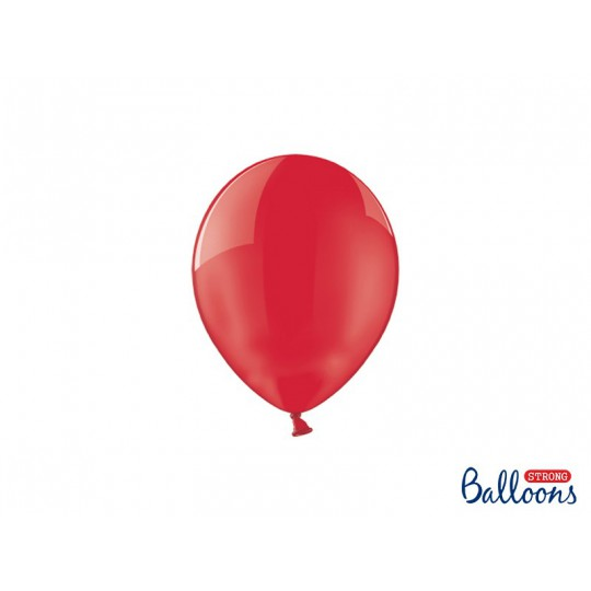 Balony 12 cm, Crystal Poppy Red