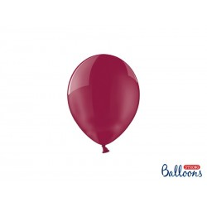 Balony 12 cm, Crystal Maroon